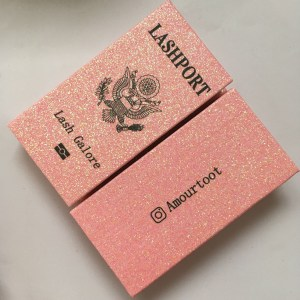 Pink Glitter Passport Lash Box
