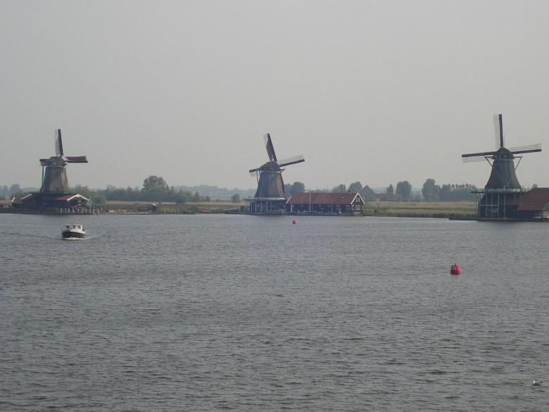 Moinhos em Zaanse Schans perto amsterdam