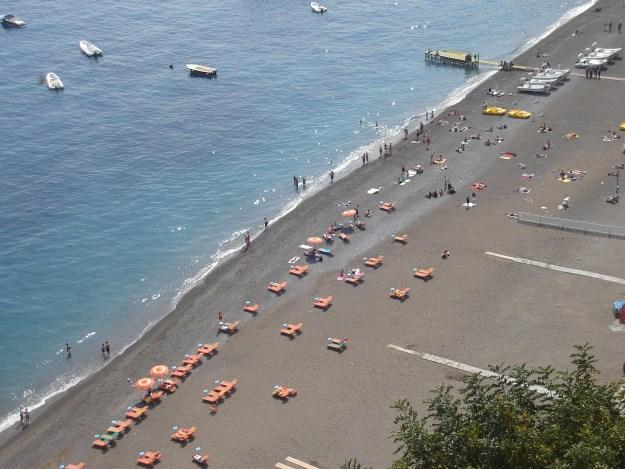 A linda praia de Positano. Foto: Marcelle Ribeiro