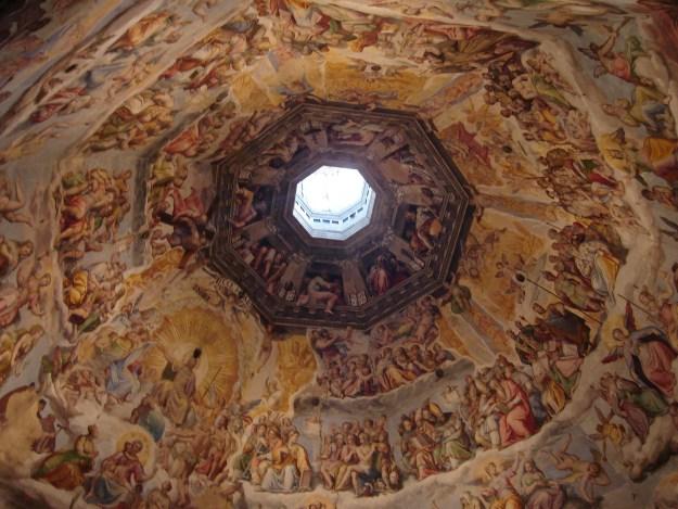 Os afrescos do Duomo de Florença. Foto: Marcelle Ribeiro