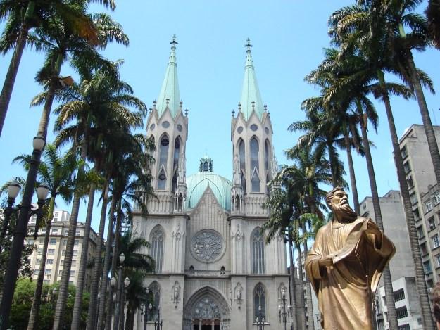 A Catedral da Sé, no Centro de São Paulo. Foto: Marcelle Ribeiro