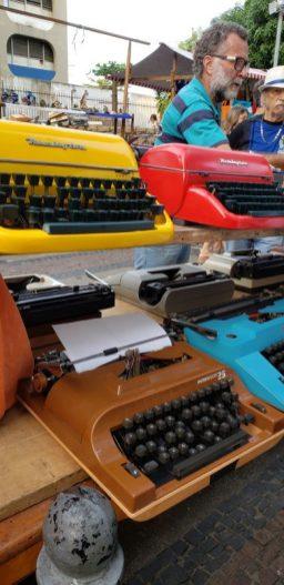 compras no rio de janeiro máquina de escrever
