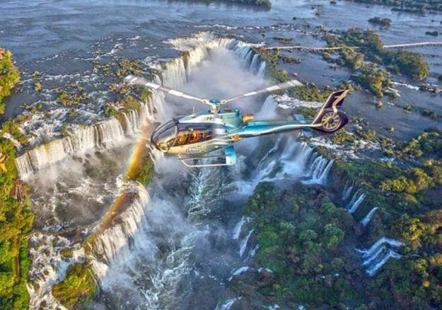 cataratas do iguacu lado brasileiro helicoptero