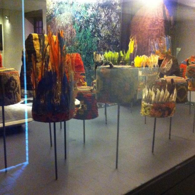 Exposição na vinícola Undurraga. Foto: Adelia Ribeiro
