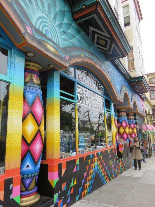 Loja Jammin On Haight, no bairro Haight Ashbury, em San Francisco. Foto: Marcelle Ribeiro