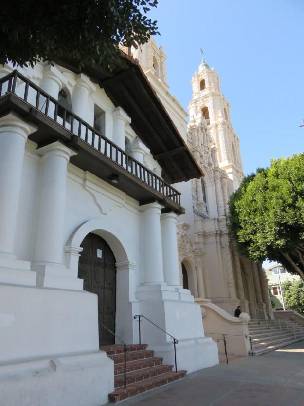 Mission Dolores e a basílica ao lado. Foto: Marcelle Ribeiro