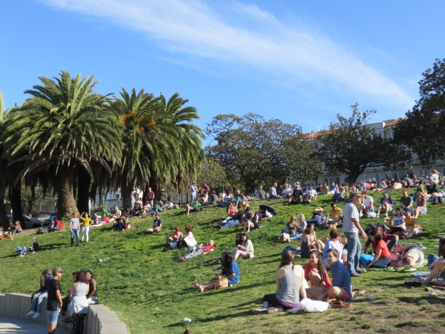 Dolores Park, em San Francisco. Foto: Marcelle Ribeiro