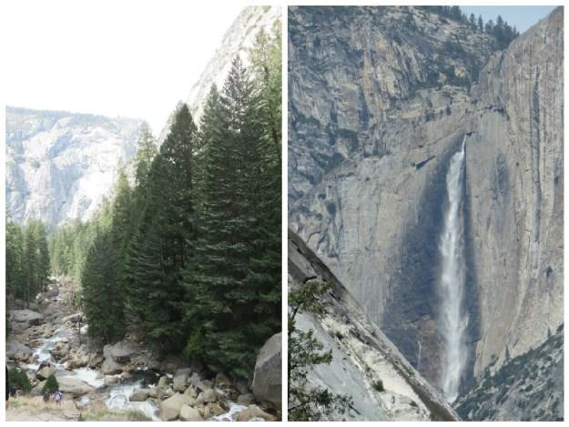 Trilha de Vernal Fall, em Yosemite. Foto: Marcelle Ribeiro