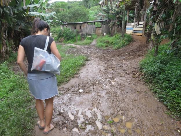 Trilha para a praia do Maço, entre Pinheira e Guarda do Embaú. Foto: Marcelle Ribeiro