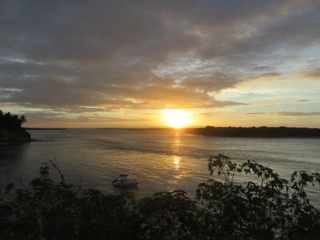 Pôr do Sol na Lagoa dos Guaraíras. Foto: Marcelle Ribeiro.