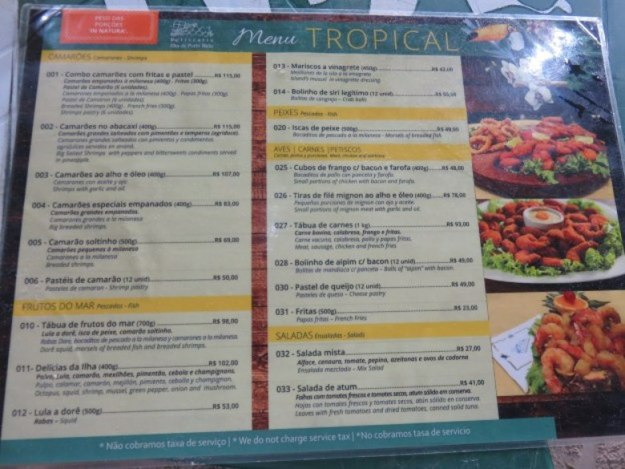 ilha de porto belo restaurante