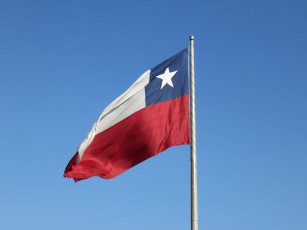 Bandeira chilena. Foto: Marcelle Ribeiro.