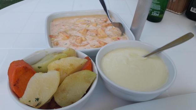 Camarão com molho de quatro queijos. Delícia! Foto: Marcelle Ribeiro