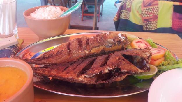 Peixe frito do Corais dos Milagres estava bem gostoso. Foto: Marcelle Ribeiro
