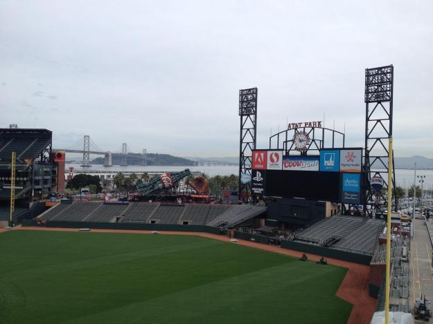 Olha a vista da baía de San Francisco no AT&T Park! Foto: Guilherme Calil.