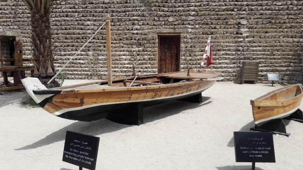 Museu de Dubai tem barcos usados por antigos moradores. Foto: Marcelle Ribeiro