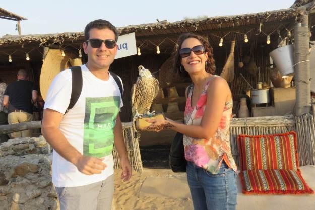 Os árabes são ótimos em domesticar falcões. Foto: Arquivo pessoal