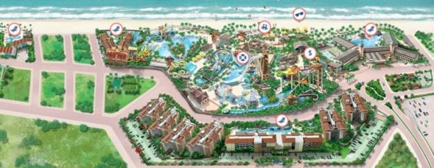 beach park dicas mapa