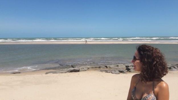 paisagem da praia de águas belas
