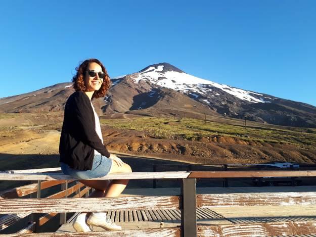 Na base do vulcão Villarica, em Pucón
