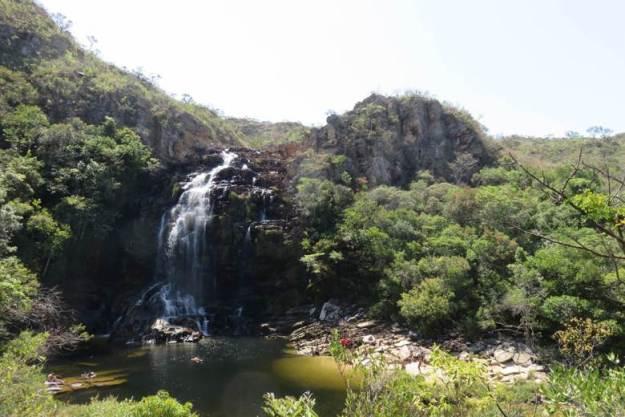 cachoeira na serra do cipo cachoeira do gavião