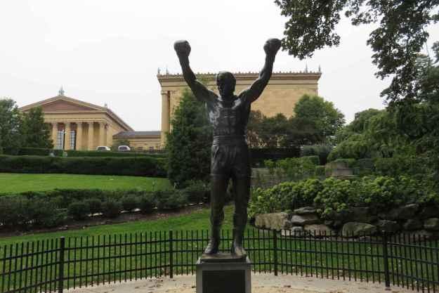 Estátua do Rocky fica perto do Museu de Arte da Filadélfia.