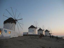 Mykonos, Grécia, moinhos