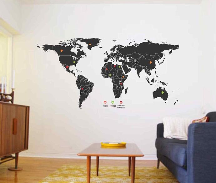 presentes para quem gosta de viajar adesivo parede