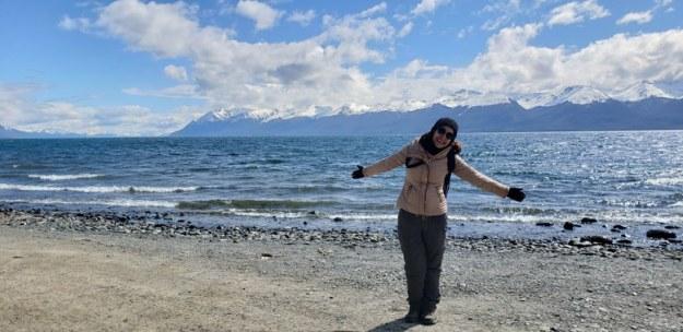 lago fagnano mulher expedicao 4x4 ushuaia