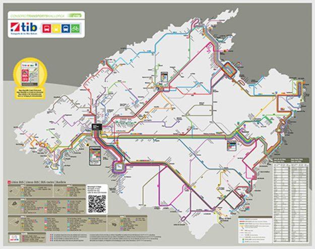 mapa ônibus mallorca espanha