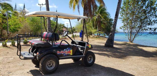 carrinho golfe praia colômbia seguro viagem