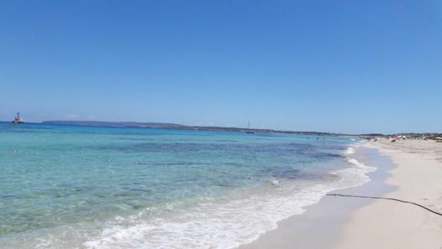 praia llevant ilha de formentera