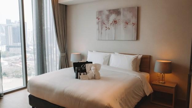 quarto Oakwood Suites onde ficar em bangkok