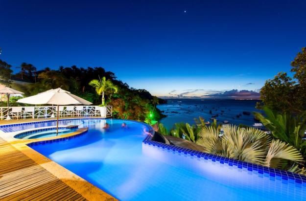 piscina onde se hospedar em morro de são paulo