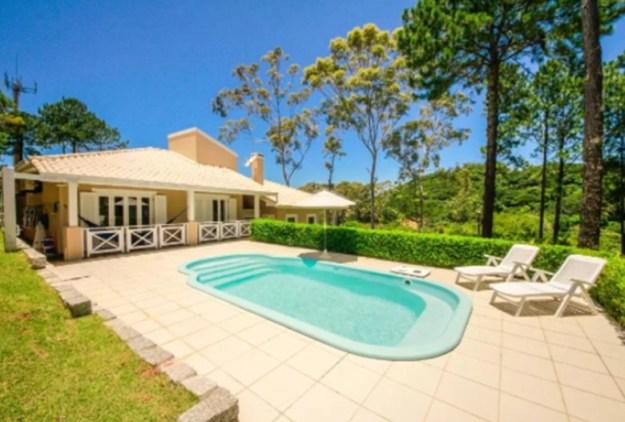 piscina jardim casas para temporada em florianópolis