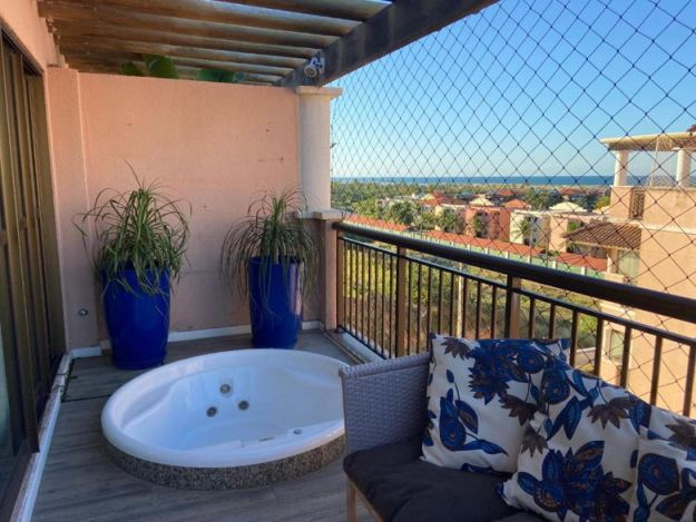 banheira varanda hotéis próximos ao beach park