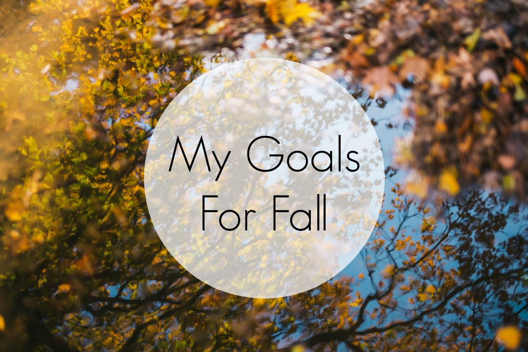 My Goals For Fall