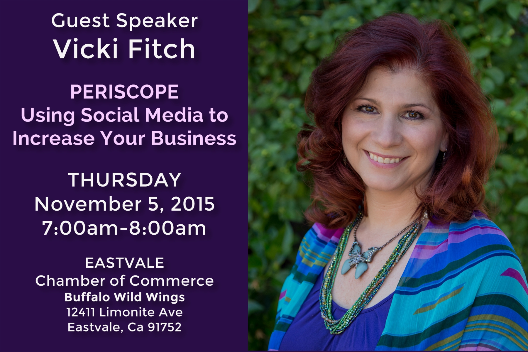 Vicki Fitch Speaker at Eastvale Chamber of Commerce