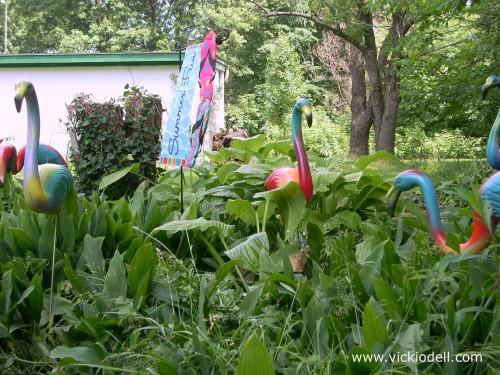 Vicki-fied Flamingos - Tie Dye Flamingos