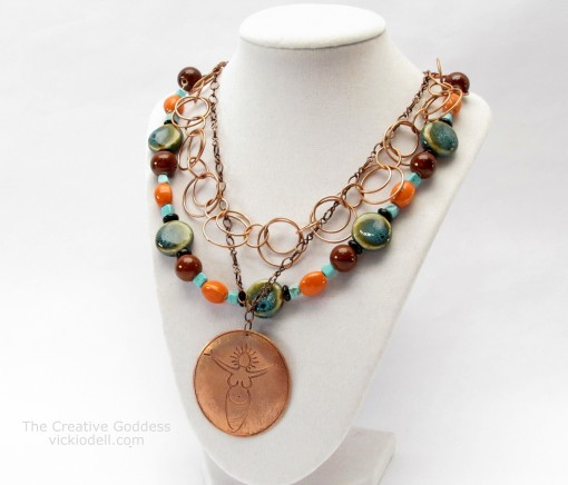 A New Necklace - Combining Chains and Strung Beads
