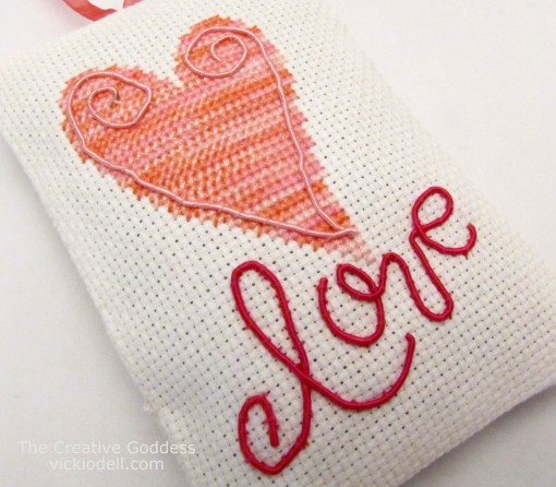 Make a Cross Stitched Sachet for Valentine's Day