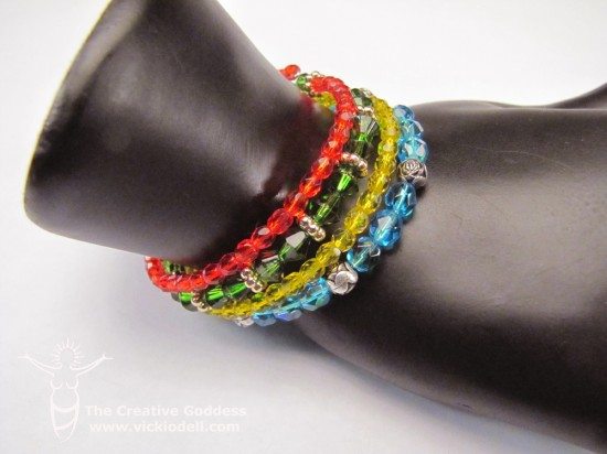 Easy Memory Wire Stacked Gypsy Bracelet