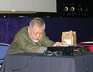 Yasunao Tone, performer at lovebytes festival 2002a