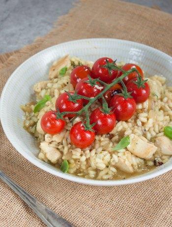 Vicky van Dijk | Basilicum-risotto met cherrytomaatjes