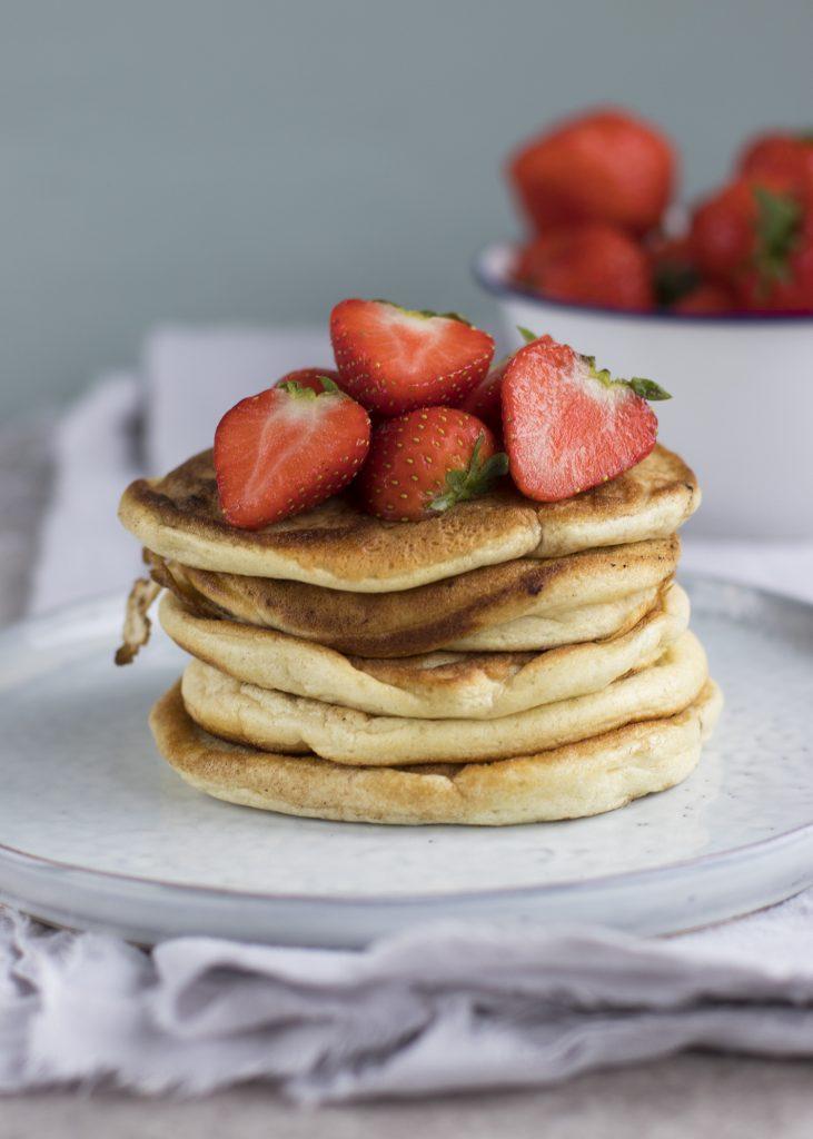 American pancakes gevuld met Nutella