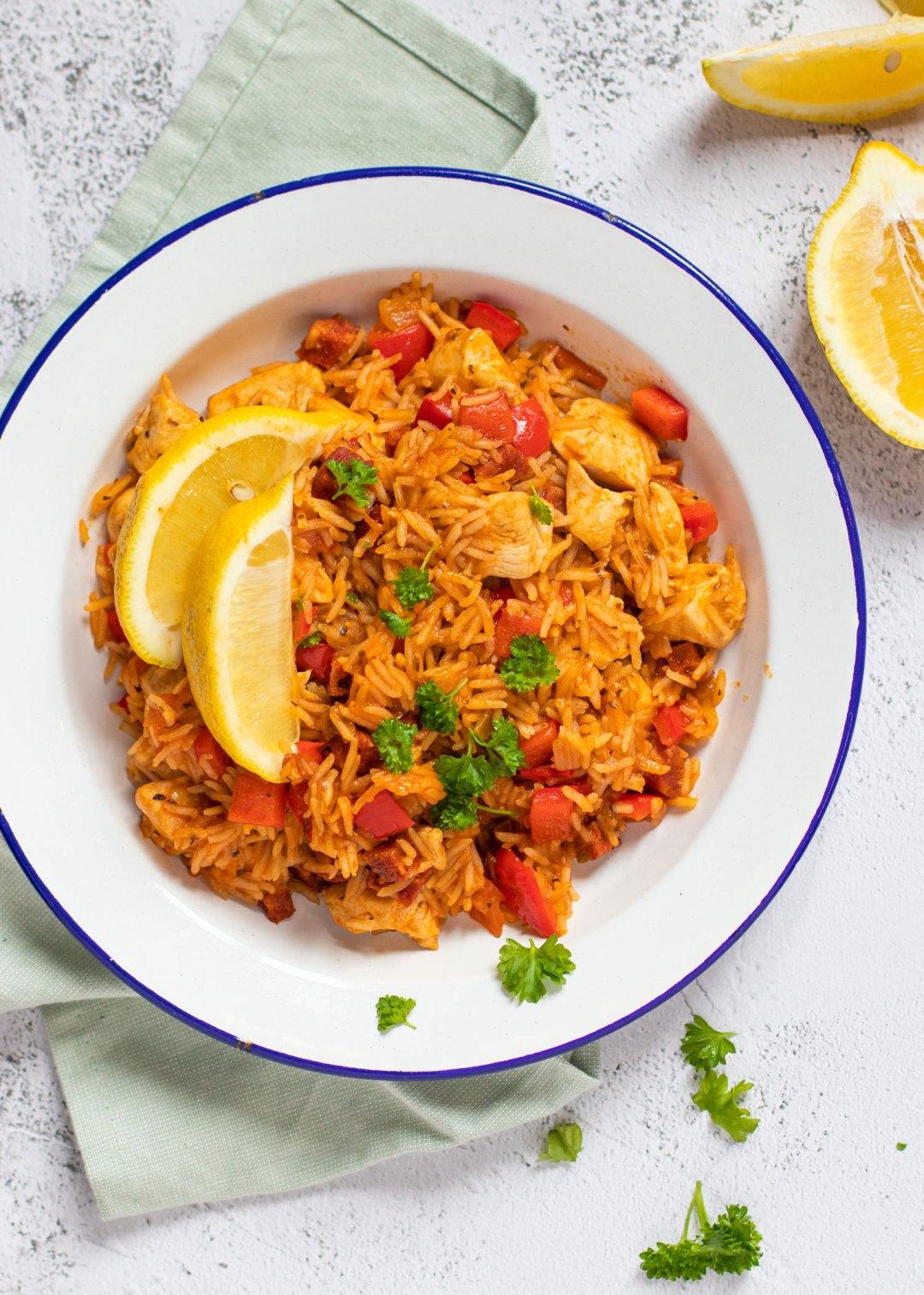 Jambalaya met kip & chorizo