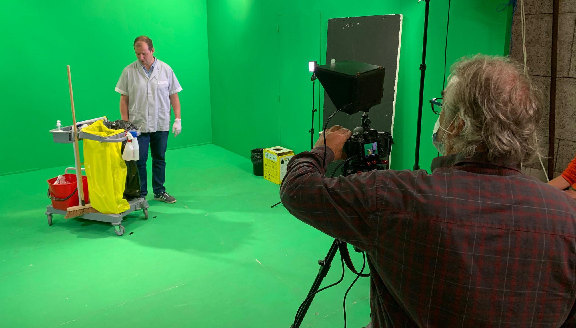 Tournage d'un clip SMDO au studio fond vert Vicprod