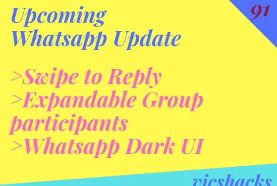 Upcoming Whatsapp Update : Version 2.18.300
