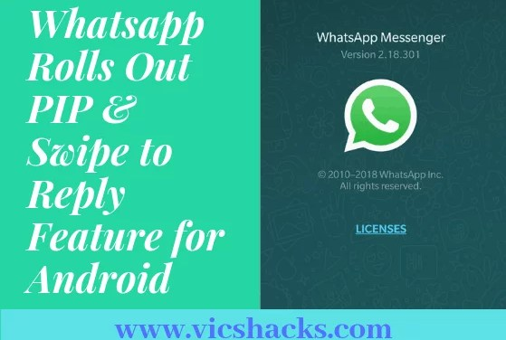 WhatsApp rolling out PIP (Picture-In-Picture) mode & Swipe to Reply option for Android