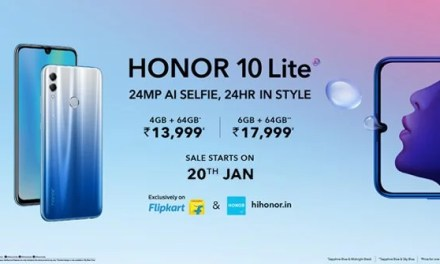 Honor 10 Lite has Launched in India and goes for sale through Flipkart on 20th Jan at Rs. 13,999